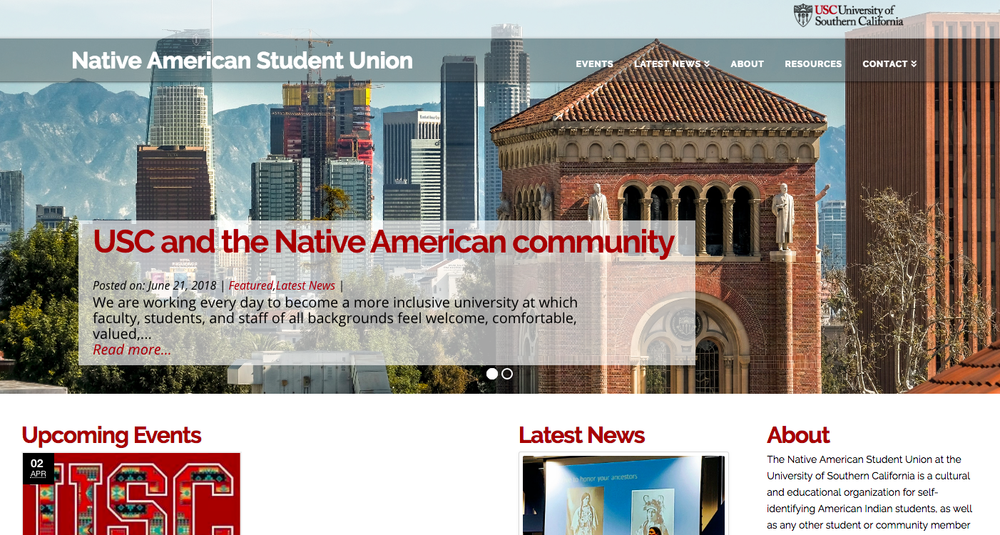 USC Native American Student Union Home Page