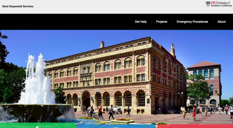 USC Student Affairs Facilities and Operations Home Page